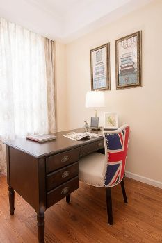 135平美式田园设计图片书房装修图片