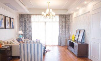 135平美式田园设计图片客厅装修图片