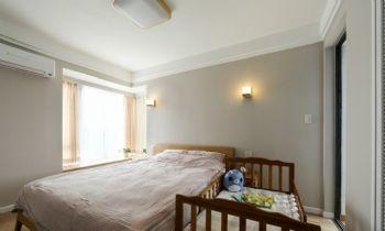 140平复式简约原木装修案例简约卧室装修图片