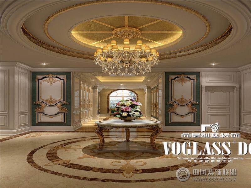 雅居乐独栋法式宫廷设计图美式玄关装修图片