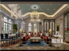 雅居乐独栋法式宫廷设计图美式客厅装修图片