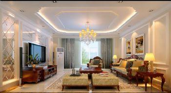 280平三居简欧风装修效果图欧式客厅装修图片