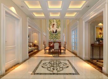 280平三居简欧风装修效果图欧式餐厅装修图片