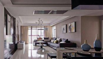 150平现代风三居设计图片现代客厅装修图片