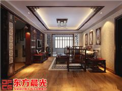北京耿辛庄四合院装修设计图中式风格大户型