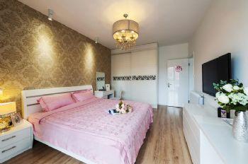 82平简约都市生活家装案例地中海卧室装修图片