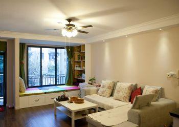 91平简约风并不阳台改为榻榻米的装修案例简约卧室装修图片