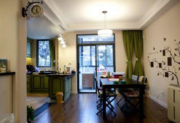 91平简约风并不阳台改为榻榻米的装修案例简约餐厅装修图片