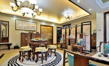 142平中式风格三居装修效果图中式餐厅装修图片