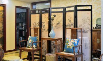 142平中式风格三居装修效果图中式客厅装修图片