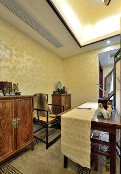 142平中式风格三居装修效果图中式书房装修图片