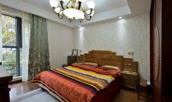 142平中式风格三居装修效果图中式卧室装修图片
