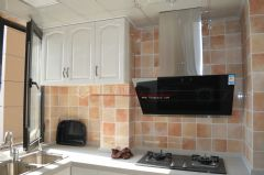 保利居上120平欧美风情完工图欧式厨房装修图片