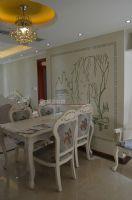 保利居上120平欧美风情完工图欧式餐厅装修图片