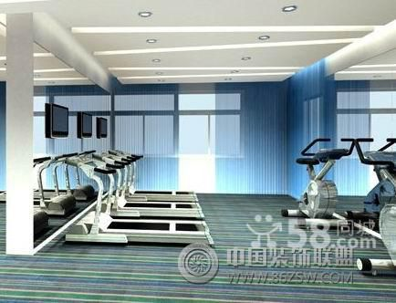 郑州专业健身房装修设计效果图-单张展示-健身房装修