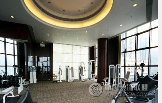 郑州专业健身房装修设计效果图-健身房装修图片