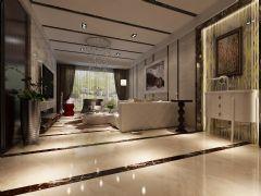 山水印象简约风格样板房古典客厅装修图片