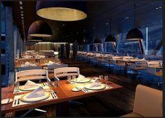郑州专业美式风西餐厅装修设计餐馆装修图片