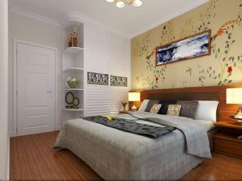 165平四居演绎新简约主义效果图简约卧室装修图片