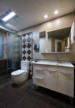 89平现代简约二居设计图片现代卫生间装修图片