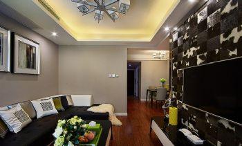 89平现代简约二居设计图片现代客厅装修图片