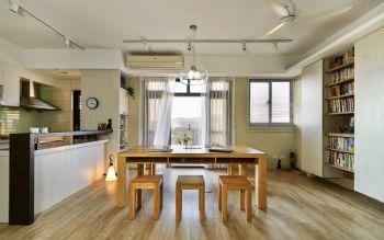 93平简约原木演绎自然美居装修图片简约餐厅装修图片