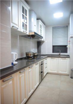 95平美式二居装修案例美式厨房装修图片