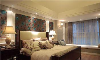 95平美式二居装修案例美式卧室装修图片