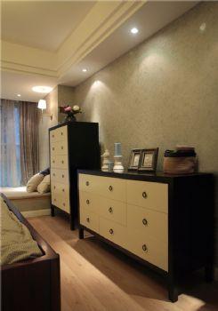 95平美式二居装修案例美式过道装修图片
