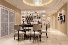 长和上郡150平3居欧式风格装修图片简约餐厅装修图片