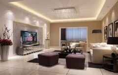 长和上郡150平3居欧式风格装修图片简约客厅装修图片