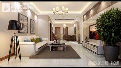 龙熙盛景现代简约大户型装修案例现代客厅装修图片