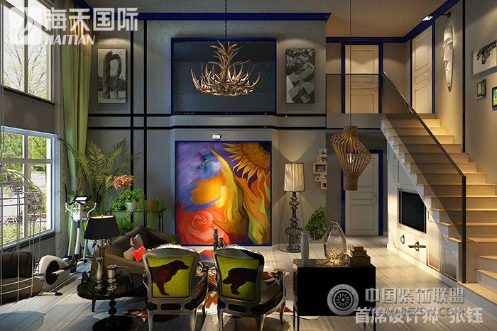 美式风格双层复式楼装修图片 客厅装修效果图 八六 中国 装饰联盟装修