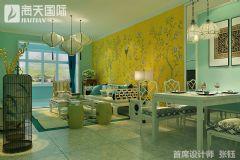 牡丹花园新中式设计大户型装修设计图中式客厅装修图片