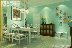 牡丹花园新中式设计大户型装修设计图中式餐厅装修图片