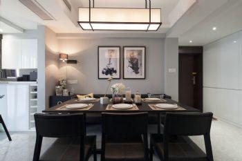 127平现代简约大户型装修效果图简约餐厅装修图片