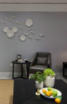 127平现代简约大户型装修效果图简约客厅装修图片
