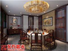 四合院别墅中式设计舒适接地气效果图中式餐厅装修图片