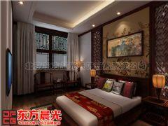 四合院别墅中式设计舒适接地气效果图中式卧室装修图片