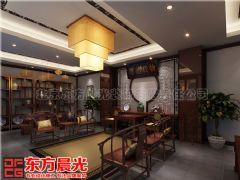 四合院别墅中式设计舒适接地气效果图中式客厅装修图片