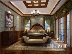 龙湖长桥郡美式风格案例美式卧室装修图片