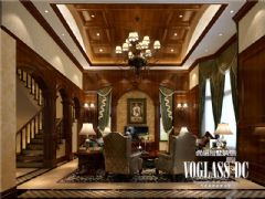 龙湖长桥郡美式风格案例美式客厅装修图片