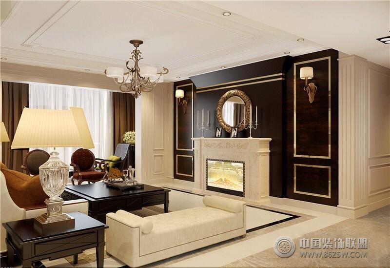 驿山高尔夫设计方案展示-客厅装修效果图-八六(中国)