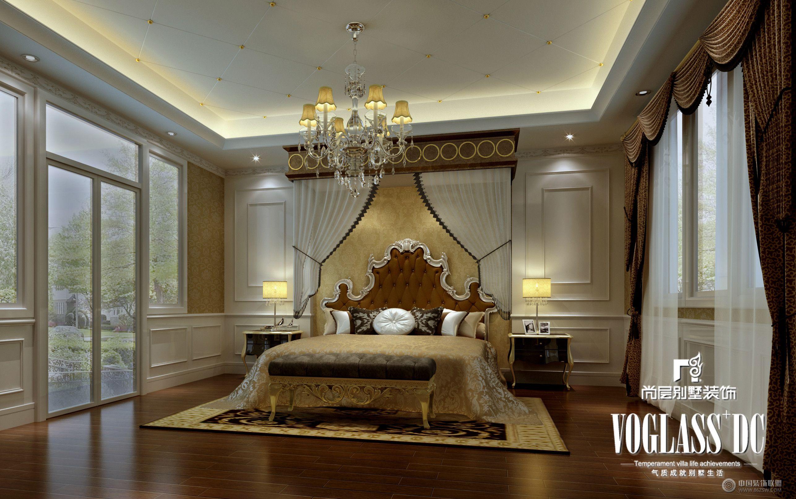 八六 中国 装饰联盟装修效果图库 -长桥郡美式风格设计图片 卧室装修