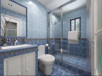 162平新中式四居装修案例中式卫生间装修图片