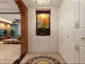 162平新中式四居装修案例中式过道装修图片