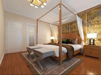 162平新中式四居装修案例中式卧室装修图片