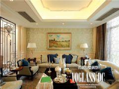 中海龙湾半岛法式风格装修效果图东南亚客厅装修图片