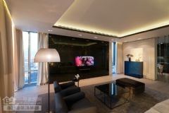 奥山世纪城121平米营造三居室极简主义效果图现代简约客厅装修图片
