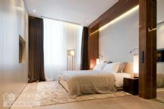 奥山世纪城121平米营造三居室极简主义效果图现代简约卧室装修图片